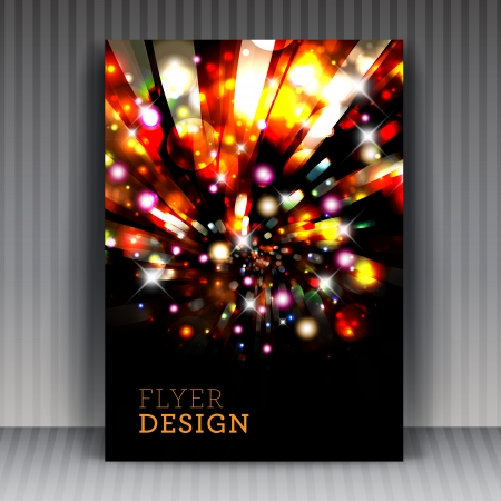 original sparkle: Flyer or cover design business. For vector version, see my portfolio.  Illustration