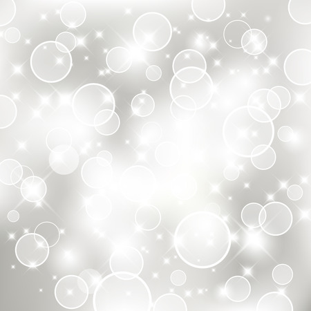 Glittery lights silver abstract Holiday background. For vector version, see my portfolio.