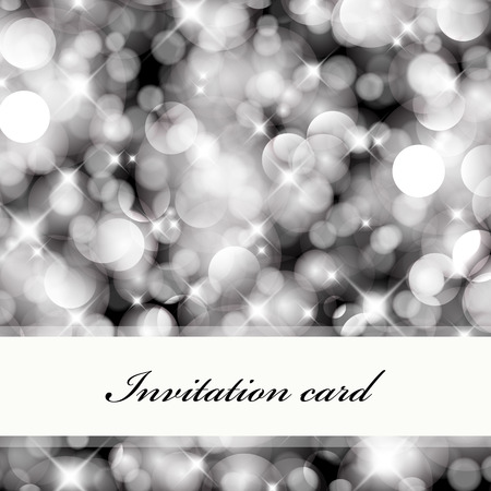 twinkling: Abstract bokeh invitation card. For vector version, see my portfolio.