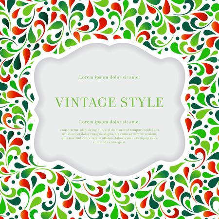 Elegant spring card with floral ornament design. For vector version, see my portfolio.  Vector