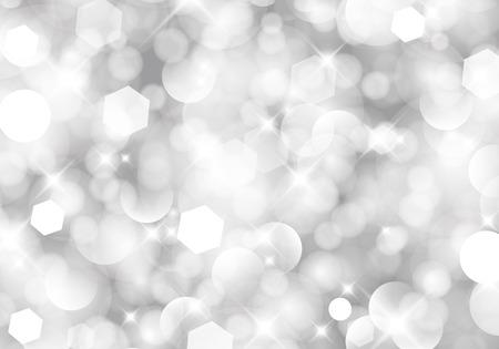 きらびやかなライト シルバー抽象的なクリスマス背景。ベクトルのバージョンは私のポートフォリオを参照してください。