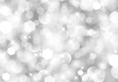 silver background: Glittery lights silver abstract Christmas background. For vector version, see my portfolio.