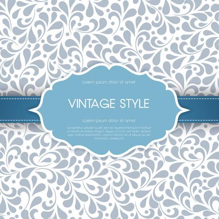 Vintage card with floral ornament design.  Vector