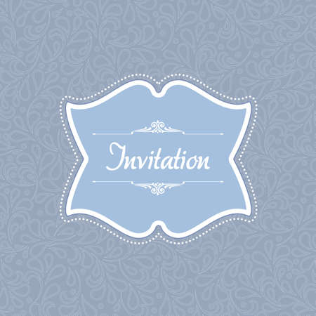 Vintage flower background template illustration. Perfect as invitation or announcement. For vector version, see my portfolio.  Vector