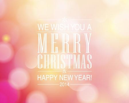 Feliz Navidad y diseño de la tarjeta de la Feliz Año Nuevo. Perfecto como invitación o aviso. Foto de archivo - 23980281