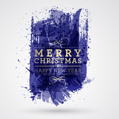 Figured brush strokes brush and ink. Merry Christmas and Happy New Year background. Stock Vector - 23980298