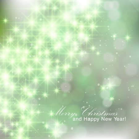 twinkles: Glittery green abstract Christmas background. Illustration