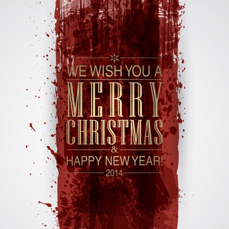 Figured brush strokes brush and ink. Merry Christmas and Happy New Year background. Vector
