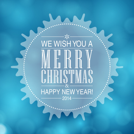 Merry Christmas and Happy New Year card design. Perfect as invitation or announcement. Vector