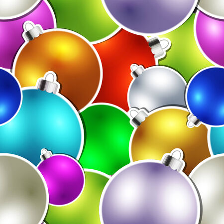 Seamless Christmas ball texture Vector