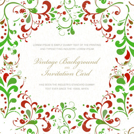 holiday celebrations: Vintage styled card