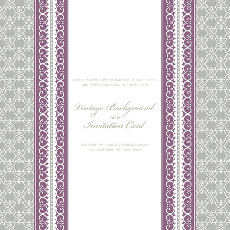 Ornate frame. Perfect as invitation or announcement. Vector