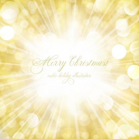 Abstracte glanzende sterren op gouden licht barsten. Perfect voor de kerstdagen of een andere feestelijke gelegenheid.