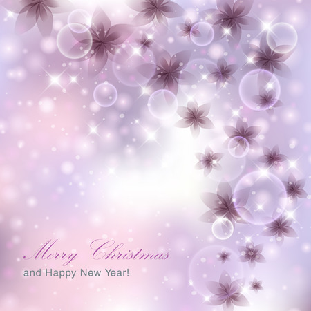 solemn: Light silver abstract Christmas background.  Illustration