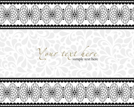 Detailed antique flowers template frame, design for vintage invitation card.  Stock Vector - 24094735