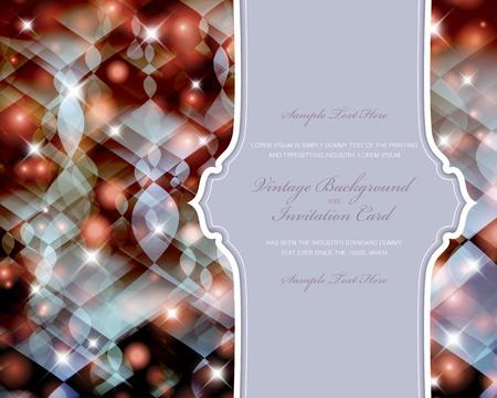 Elegant Christmas invitation card.  Stock Vector - 24094827