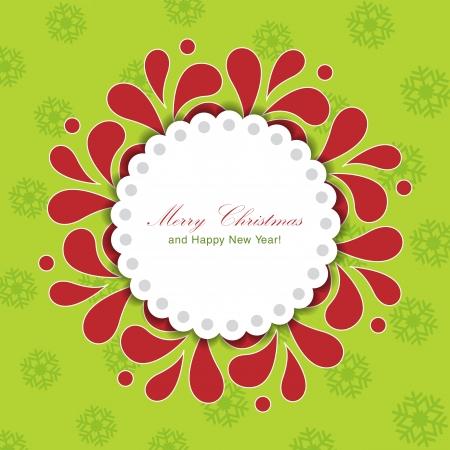 Template frame design for Christmas card. Stock Vector - 24094856