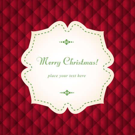 Template frame design for Christmas invitation card. Stock Vector - 24148931