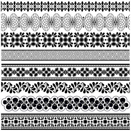 lace border: Set Of vintage borders for design.  Illustration