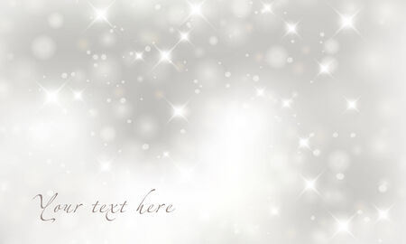 christmas invitation: Light silver abstract Christmas background.  Illustration
