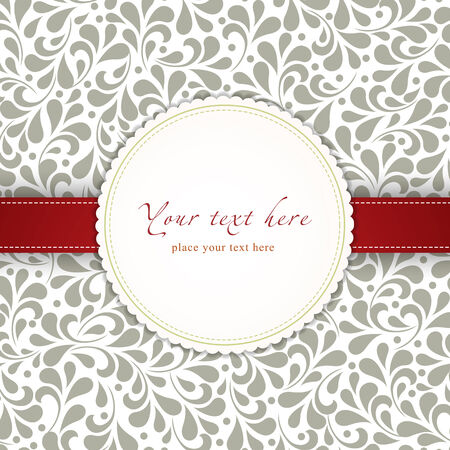 Wedding card or invitation with abstract floral background. Perfect as invitation or announcement. Vector