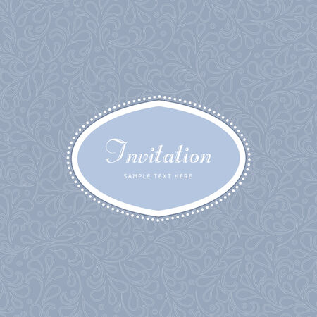 letterpress: Vintage flower background template illustration. Perfect as invitation or announcement. Illustration