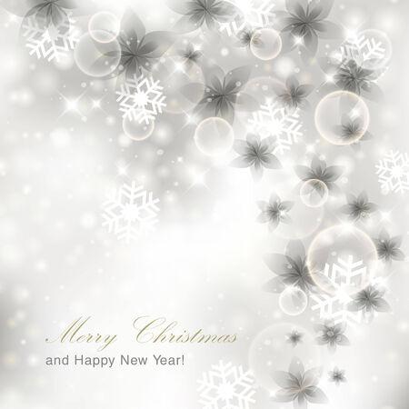 glittery: Glittery silver Christmas background Illustration