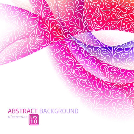silky: Modern abstract colorful Christmas template.  Illustration