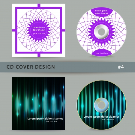 cd cover: Set of cd cover design template design.  Illustration