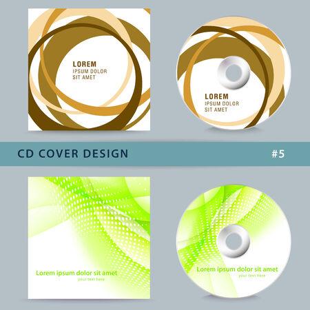 halfone: Set of cd cover design template design.  Illustration