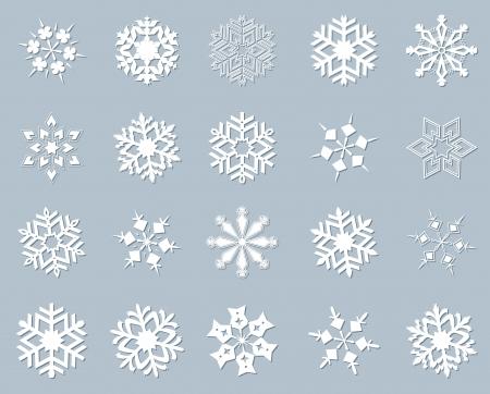Copo de nieve conjunto de invierno. Foto de archivo - 24331205