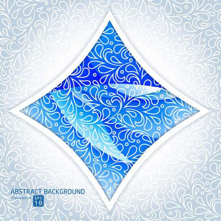 Modern abstract blue business design template.  Vector