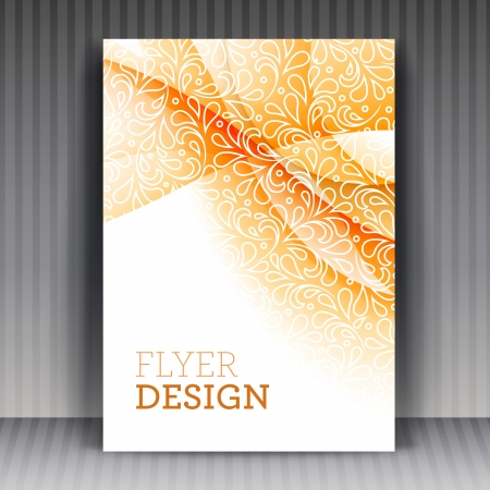 Flyer or cover design business. Editable illustration. For vector version, see my portfolio.