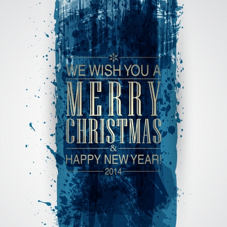Figured brush strokes brush and ink. Merry Christmas and Happy New Year background. Stock Vector - 24383645