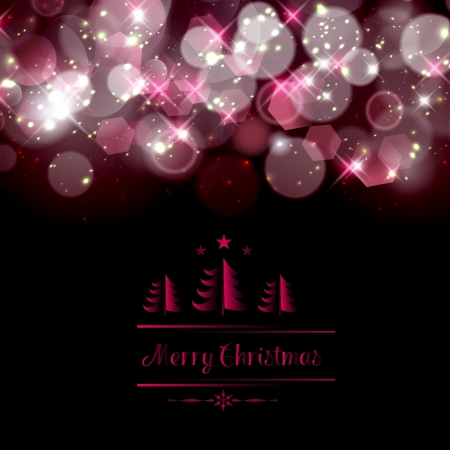 Abstract twinkled christmas background. Vector