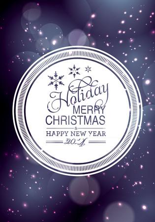 Vrolijk Kerstfeest en Gelukkig Nieuwjaar kaart ontwerpen. Perfect als uitnodiging of aankondiging. Stock Illustratie