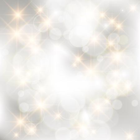 キラキラ銀抽象的なクリスマス背景。  イラスト・ベクター素材