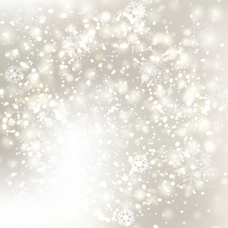 winter wonderland: Glittery Christmas background with stars and twinkly lights.