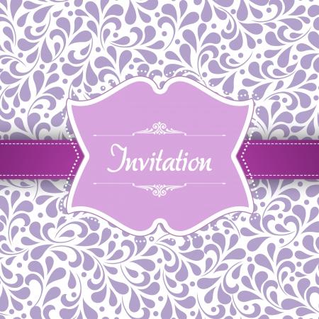 Trouwkaart of uitnodiging met abstract floral achtergrond. Voor vector-versie, zie mijn portefeuille.