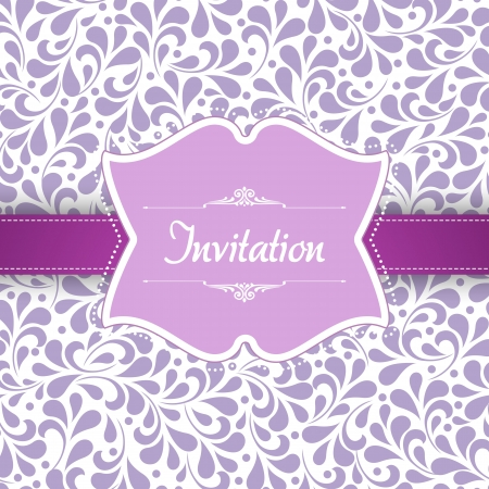 Wedding card or invitation with abstract floral background. For vector version, see my portfolio.  Vector