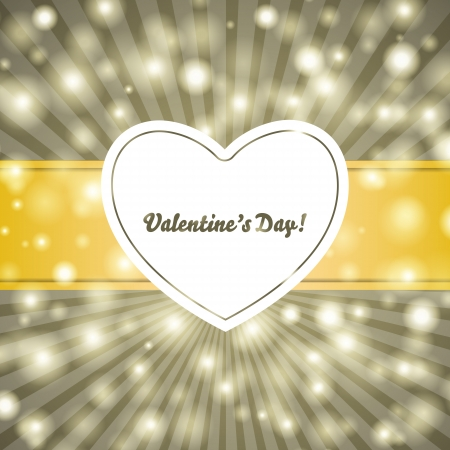 Valentines day vintage background. For vector version, see my portfolio.  Vector