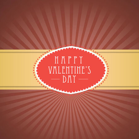Valentines day vintage background.  Vector