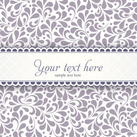 Mooie sjabloon frame ontwerp voor wenskaart. Voor vector versie, zie mijn portefeuille.