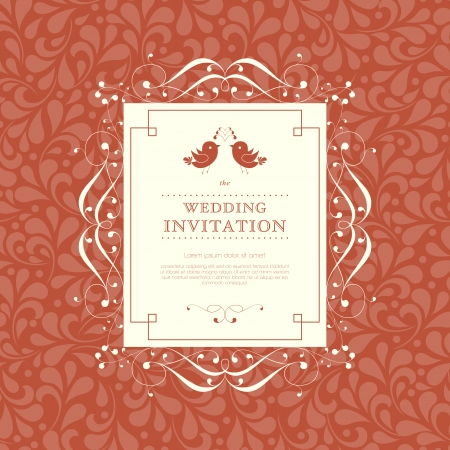 Wedding card or invitation with abstract floral ornament background. Perfect as invitation or announcement. Stock Vector - 24979531