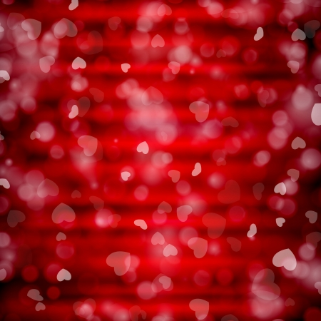 Happy Valentines Day background with hearts. Vector