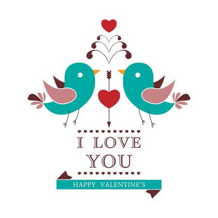 Invitation card for Valentines day. Vector