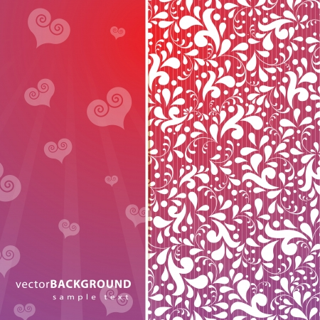 Elegant, stylish romantic background illustration. Vector