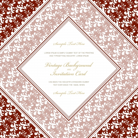 Elegant floral frame and ornate background. Perfect as invitation or announcement .