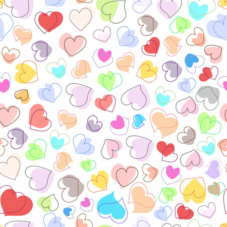 whimsy: Beautiful hearts seamless background