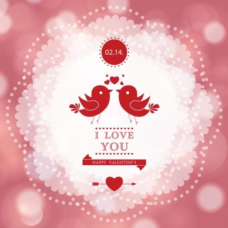 Diseño de tarjeta del día de San Valentín feliz. Te Amo. Foto de archivo - 25040669